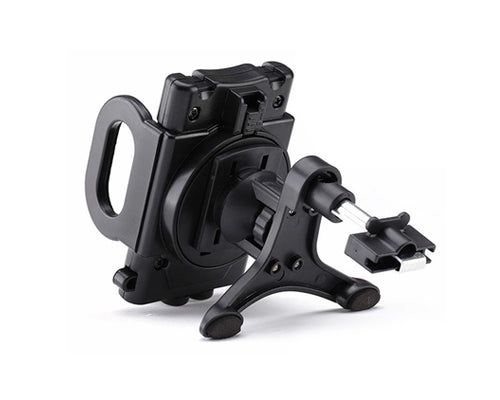 360 Degree Rotatable Adjustable Car Mount Phone Holder - Black