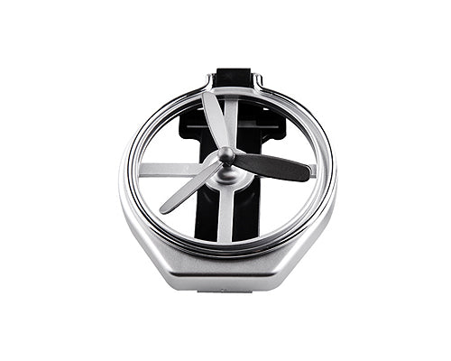 Foldable Air-Outlet Insert Car Cup Holder with Fan - Silver