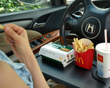 Multi-functional Car iPad/ Laptop/ Eating Steering Wheel Desk - Black