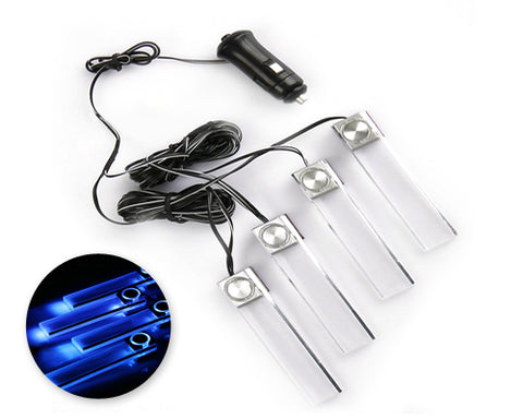 Set of 4 LED Car Charge Interior Atmosphere Lights