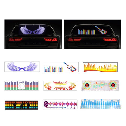 90 x 25cm Sound Sensitive Music Beat Activated LED Car Sticker