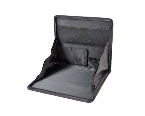 Portable Fabric Car Chair Back Seat Stand Pack Bag for Laptop - Black