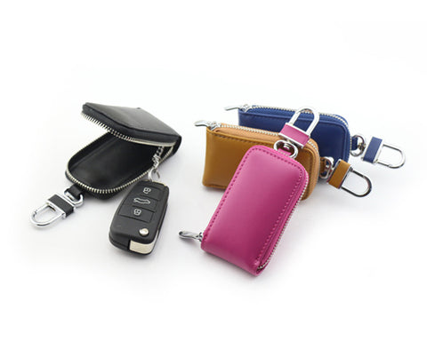 Zipper Leather Car Key Chains