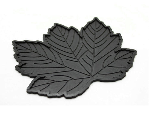 Maple Leaves Non-Slip Car Mat Dashboard  Pad for Mobile Phone - Black