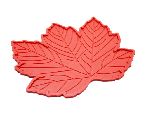 Maple Leaves Non-Slip Car Mat Dashboard  Pad for Mobile Phone - Red