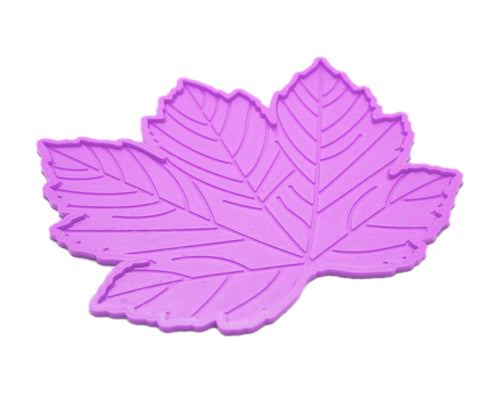 Maple Leaves Non-Slip Car Mat Dashboard  Pad for Mobile Phone - Purple