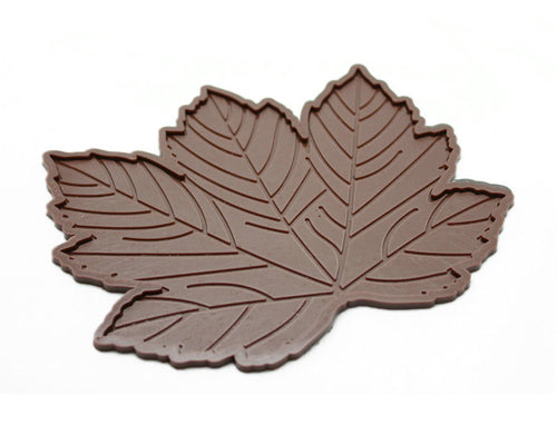 Maple Leaves Non-Slip Car Mat Dashboard  Pad for Mobile Phone  - Brown