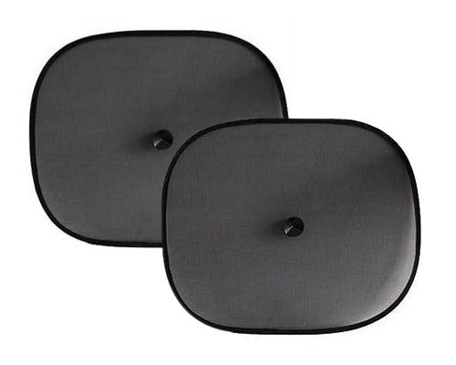 Foldable Car Sun Shade 2 Pieces with Suction Cups