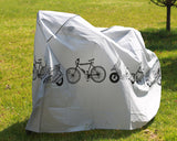 Heavy Duty Waterproof Bike Cover for Outdoor Bicycle Storage - White