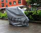 Heavy Duty Waterproof Bike Cover for Outdoor Bicycle Storage - Gray