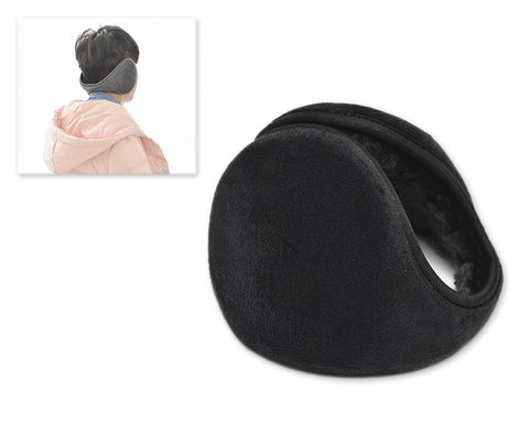 Classic Winter Unisex Foldable Headphone Ear Muffs - Black