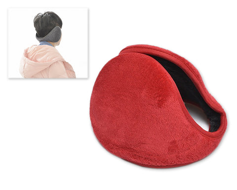 Classic Winter Unisex Foldable Headphone Ear Muffs - Red