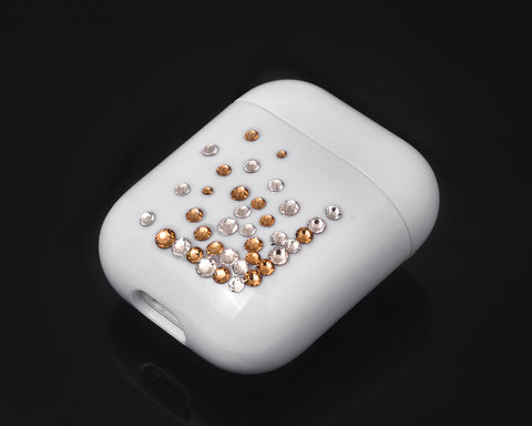 Rubble Bubble Bling Swarovski Crystal AirPods Case - Gold and Silver