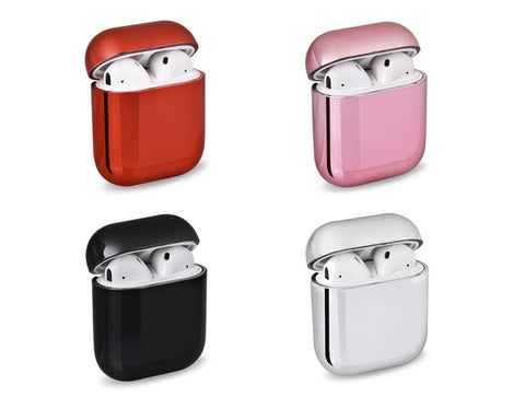 AirPods Case Protective Hard Cover Chrome Shell Case for AirPods