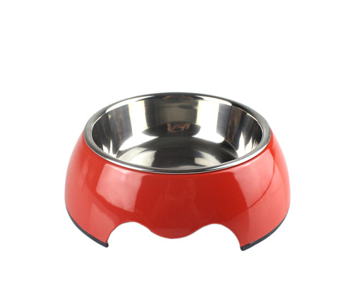 Glossy Series Stainless Steel Pet Bowl 2 in 1