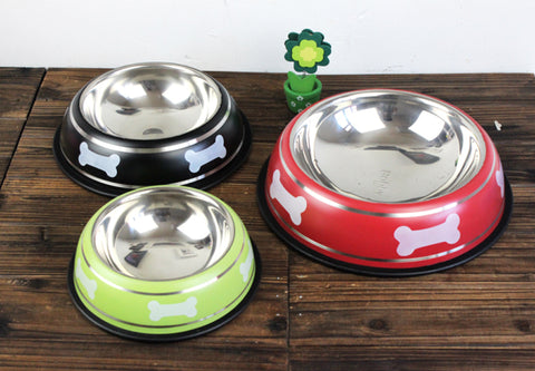 Bone Series Stainless Steel Pet Bowl