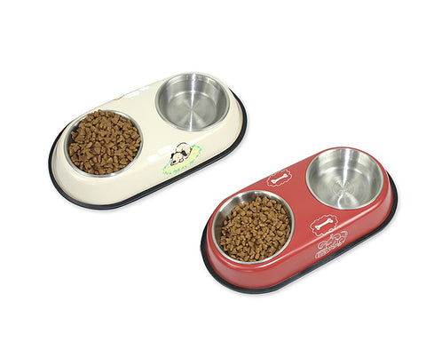 Twins Series Stainless Steel Pet Bowl