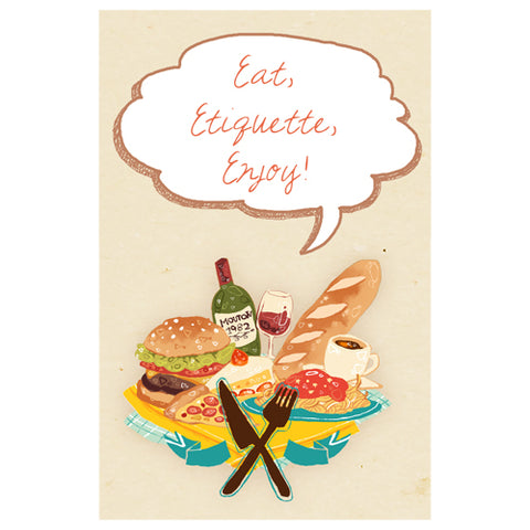 Eat, Etiquette, Enjoy! Designer Phone Cases