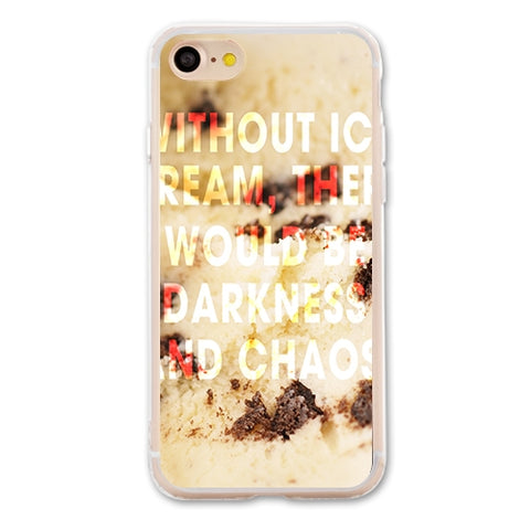 Without Ice Cream Designer Phone Cases