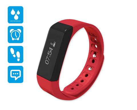 I5 Plus Smartwatch Fitness Tracker Wristband - Red