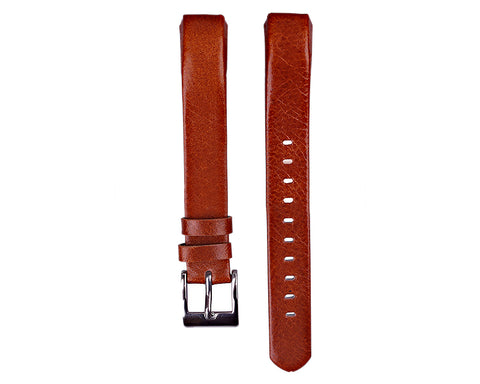 Replacement Leather Watch Band for Fitbit Alta - Brown
