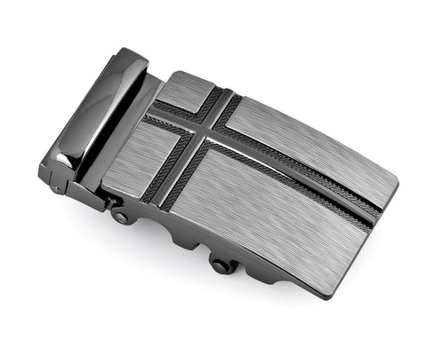 Classic Adult Men Metal Sliding Automatic Belt Buckle - Cross