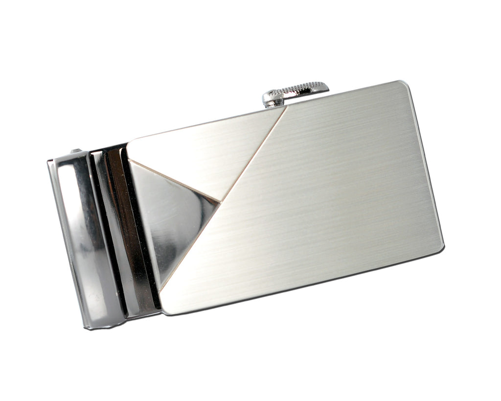 Classic Adult Men Metal Sliding Automatic Belt Buckle - Triangle