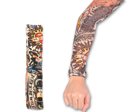 Cycling Elastic Tattoo Arm Sleeve