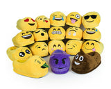 One Size Emoji Soft Plush Slippers