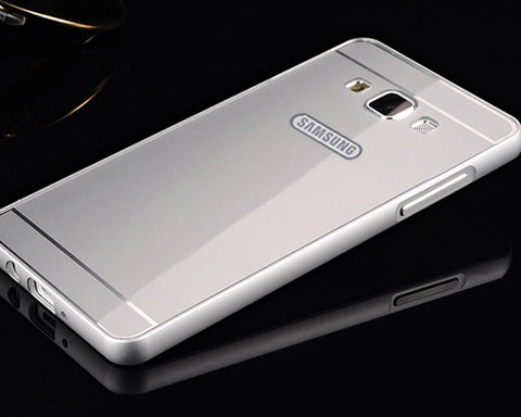 Stylish Bumper Series Samsung Galaxy A5 Aluminum Case - Silver
