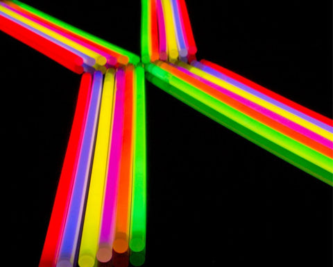 100 Pcs Multi Color Light Glow Fluorescence Sticks for Party