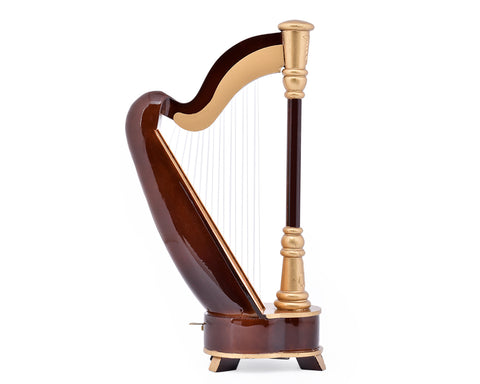 10 Inches Harp Music Box Replica Musical Instrument
