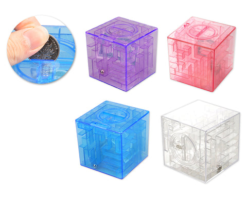 3D Maze Money Saving Box Puzzle Piggy Bank