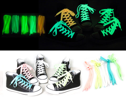 "5 pairs 47"" Glow in the Dark Shoelaces - 5 Colors"