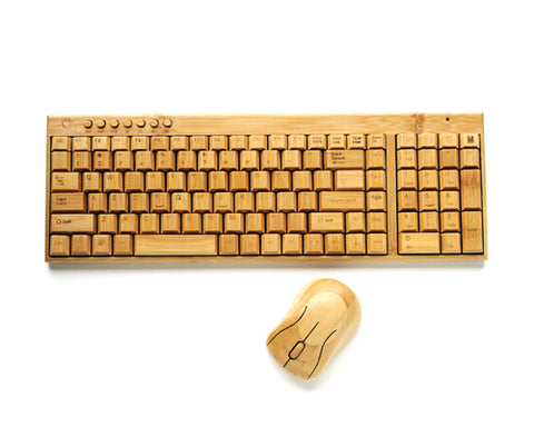 2.4GHz Bamboo Wireless Keyboard and Mouse Combo