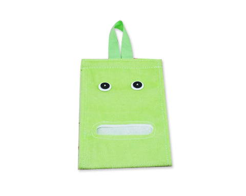 Cartoon Plush Toilet Paper Cover - Green