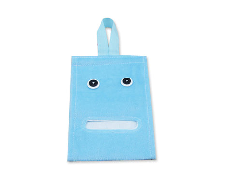 Cartoon Plush Toilet Paper Cover - Blue