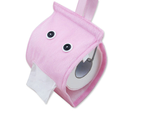 Cartoon Plush Toilet Paper Cover - Pink