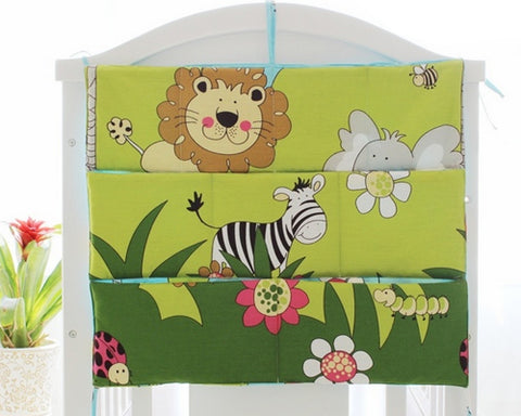 Cartoon Animals Hanging Diaper Caddy and Nursery Organizer - Yellow