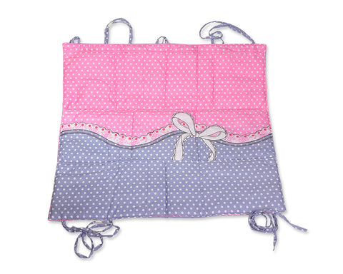 Cute Dot Hanging Diaper Caddy and Nursery Organizer - Pink and Blue