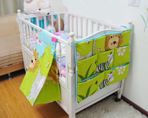 Cartoon Bear Hanging Diaper Caddy and Nursery Organizer - Light Brown