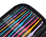 22 Pcs Multi-Color Aluminum Handle Crochet Hook Knitting Needle Set