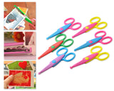 6 Pcs DIY Decorative Pattern Edged Pinking Shears Safety Scissors
