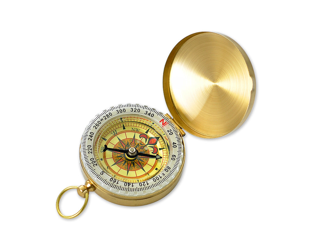Outdoor Navigation Hiking Camping Pocket Brass Luminous Compass