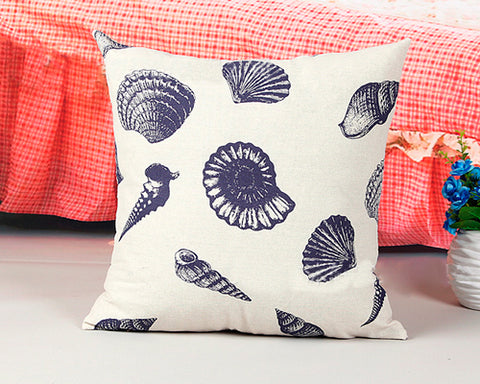 Stylish Cartoon Shell Home Decorative Throw Pillow Cushion Cover