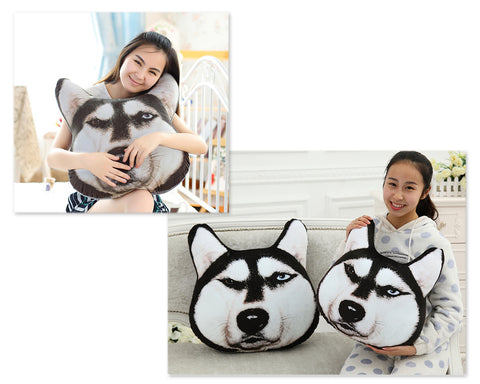16'' Dog Face Plush Throw Pillow Animal Cushion