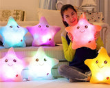 Luminous Glow Star LED Light Up Pillow with Speaker