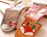 5 Pairs Creative Cute Cartoon Animal Ankle Socks