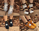 4 Pairs Animal Cat Soft Cartoon Ankle Socks Set