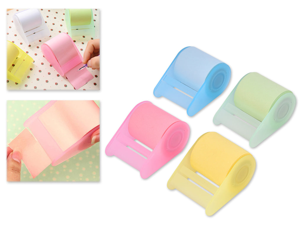 4 Pcs Sticky Notes Desktop Roll Memo Pad with Dispenser